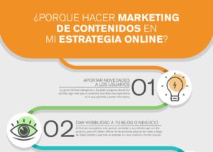porque hacer marketing de contenidos en mi estrategia online infografia